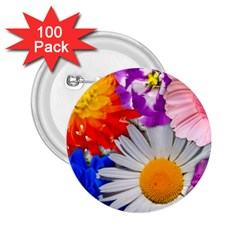 Lovely Flowers, Blue 2.25  Button (100 pack)