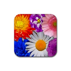 Lovely Flowers, Blue Drink Coasters 4 Pack (Square)