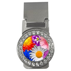 Lovely Flowers, Blue Money Clip (cz)