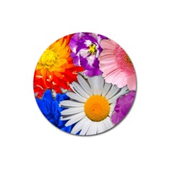 Lovely Flowers, Blue Magnet 3  (round)