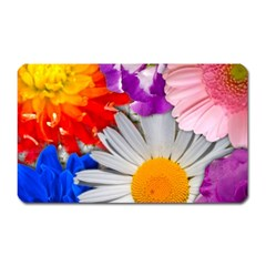 Lovely Flowers, Blue Magnet (Rectangular)