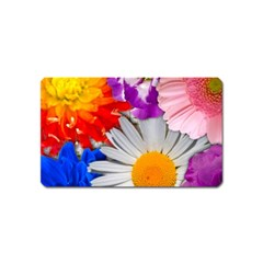 Lovely Flowers, Blue Magnet (Name Card)