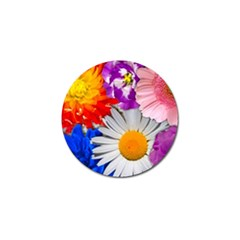 Lovely Flowers, Blue Golf Ball Marker 4 Pack
