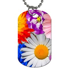 Lovely Flowers, Blue Dog Tag (two Sided)