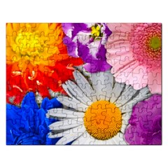 Lovely Flowers, Blue Jigsaw Puzzle (rectangle)