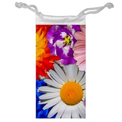 Lovely Flowers, Blue Jewelry Bag