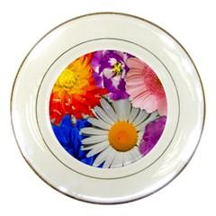 Lovely Flowers, Blue Porcelain Display Plate