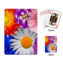 Lovely Flowers, Blue Playing Cards Single Design