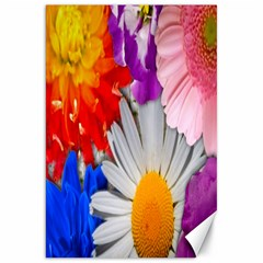 Lovely Flowers, Blue Canvas 20  x 30  (Unframed)