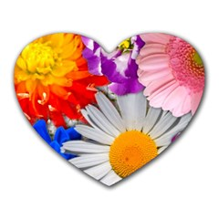Lovely Flowers, Blue Mouse Pad (heart)