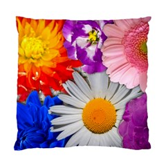 Lovely Flowers, Blue Cushion Case (Two Sided)