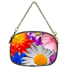 Lovely Flowers, Blue Chain Purse (Two Sided)