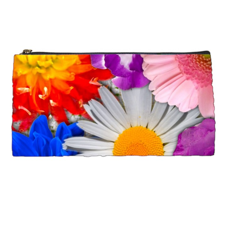 Lovely Flowers, Blue Pencil Case