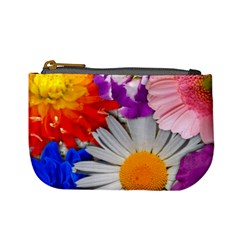 Lovely Flowers, Blue Coin Change Purse