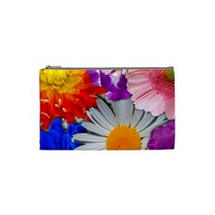 Lovely Flowers, Blue Cosmetic Bag (small)