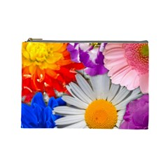 Lovely Flowers, Blue Cosmetic Bag (large)