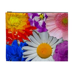 Lovely Flowers, Blue Cosmetic Bag (xl)