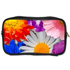 Lovely Flowers, Blue Travel Toiletry Bag (two Sides)