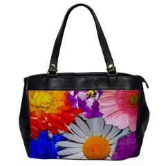 Lovely Flowers, Blue Oversize Office Handbag (One Side)