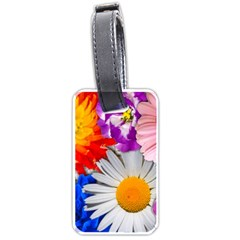 Lovely Flowers, Blue Luggage Tag (One Side)