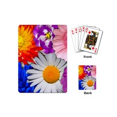 Lovely Flowers, Blue Playing Cards (mini)