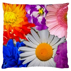 Lovely Flowers, Blue Large Cushion Case (single Sided)