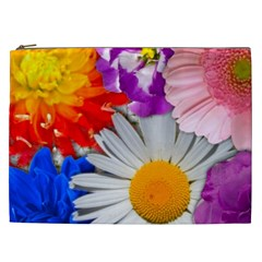 Lovely Flowers, Blue Cosmetic Bag (xxl)
