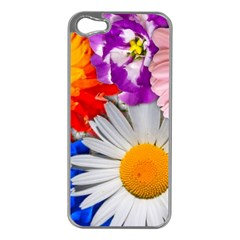 Lovely Flowers, Blue Apple Iphone 5 Case (silver)