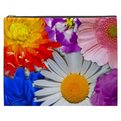 Lovely Flowers, Blue Cosmetic Bag (XXXL)
