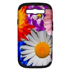 Lovely Flowers, Blue Samsung Galaxy S Iii Hardshell Case (pc+silicone)