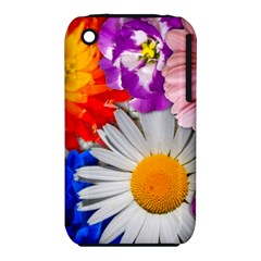 Lovely Flowers, Blue Apple iPhone 3G/3GS Hardshell Case (PC+Silicone)