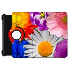 Lovely Flowers, Blue Kindle Fire Hd 7  (1st Gen) Flip 360 Case