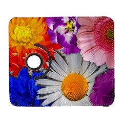 Lovely Flowers, Blue Samsung Galaxy S  Iii Flip 360 Case
