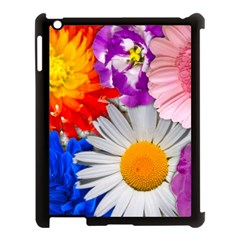 Lovely Flowers, Blue Apple iPad 3/4 Case (Black)