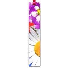 Lovely Flowers, Blue Large Bookmark