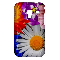 Lovely Flowers, Blue Samsung Galaxy Ace Plus S7500 Hardshell Case