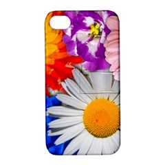 Lovely Flowers, Blue Apple Iphone 4/4s Hardshell Case With Stand