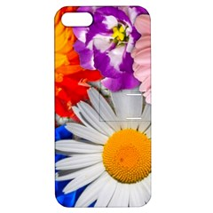 Lovely Flowers, Blue Apple Iphone 5 Hardshell Case With Stand