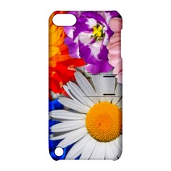 Lovely Flowers, Blue Apple iPod Touch 5 Hardshell Case with Stand