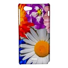 Lovely Flowers, Blue Sony Xperia J Hardshell Case