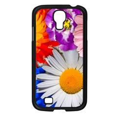 Lovely Flowers, Blue Samsung Galaxy S4 I9500/ I9505 Case (black)