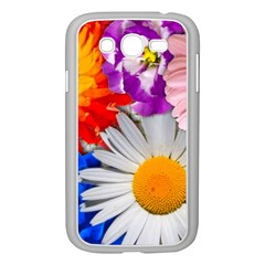 Lovely Flowers, Blue Samsung Galaxy Grand DUOS I9082 Case (White)