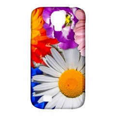Lovely Flowers, Blue Samsung Galaxy S4 Classic Hardshell Case (PC+Silicone)