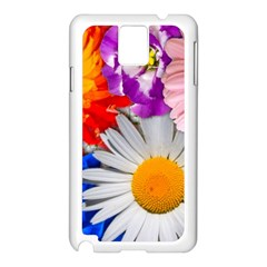 Lovely Flowers, Blue Samsung Galaxy Note 3 N9005 Case (white)