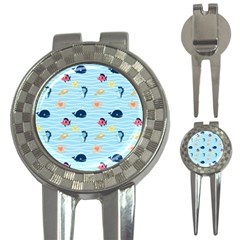 Fun Fish Of The Ocean Golf Pitchfork & Ball Marker