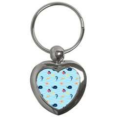 Fun Fish Of The Ocean Key Chain (heart)