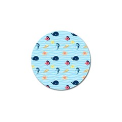 Fun Fish Of The Ocean Golf Ball Marker 4 Pack