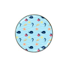 Fun Fish of the Ocean Golf Ball Marker 4 Pack (for Hat Clip)