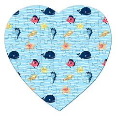 Fun Fish of the Ocean Jigsaw Puzzle (Heart)