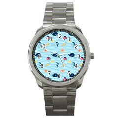 Fun Fish Of The Ocean Sport Metal Watch